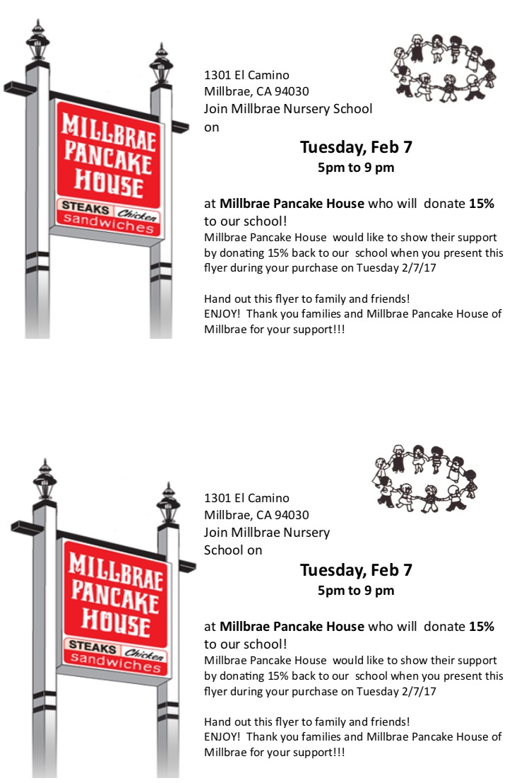 Millbrae Pancake House helps MNS Fundraise!