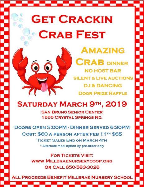 Get Crackin Crab Fest ~ 3/9/19