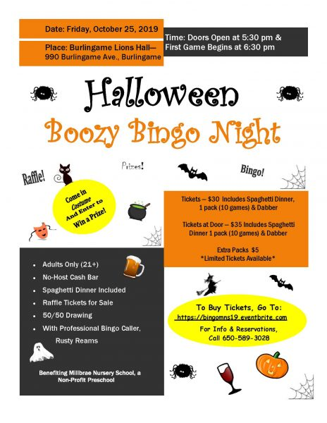 Halloween Boozy Bingo Night on 10/25/19